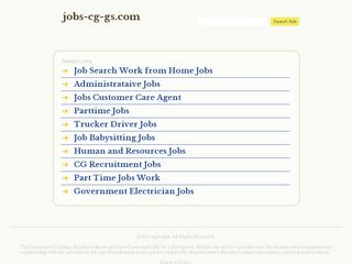 Screenshot of Jobs-cg-gs.com main page
