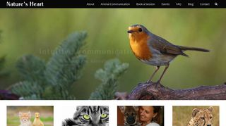 Screenshot of Naturesheart.org main page