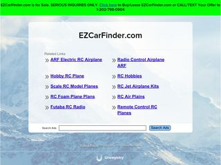 Screenshot of Ezcarfinder.com main page