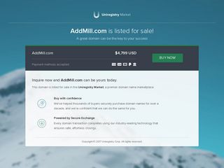 Screenshot of Addmill.com main page