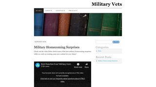 Screenshot of H-10th-cav.org main page