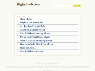 Screenshot of Flightcluub.com main page