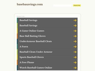 Screenshot of Basebasavings.com main page